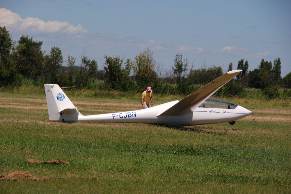 Planeur Alliance 34 Narbonne Landing